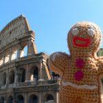 Keksmann vor dem Colosseum
