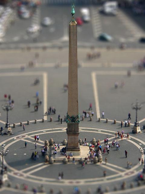 Tilt-Shift Fotografie - Petersplatz