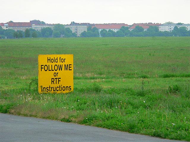 Tempelhofer Park Fluginfo