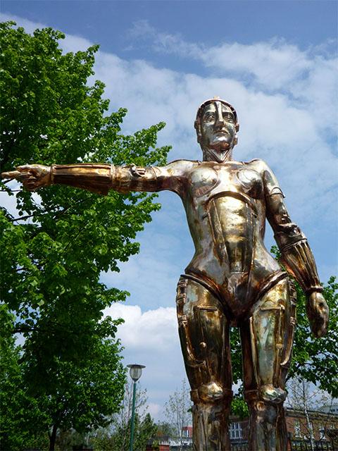 Metropolis-Figur in Potsdam Babelsberg