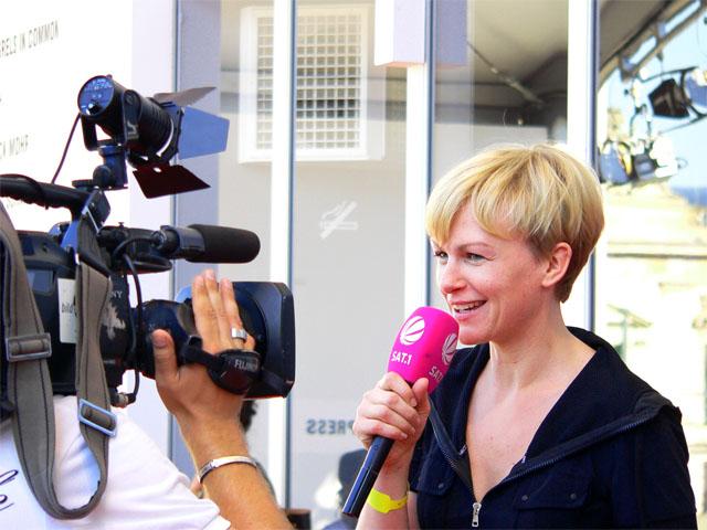 Karen Heinrichs vom Sat1-Frühstücksfernsehen - Berliner Fashion Week