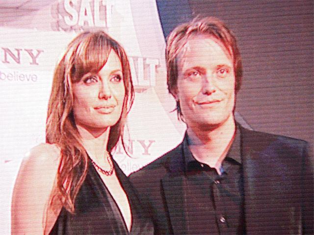 Angelina Jolie und August Diehl - Premiere von Salt