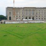 Herz im Gras auf dem Schlossplatz
