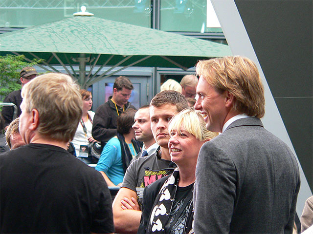 Steven Gätjen bei der Salt-Premiere
