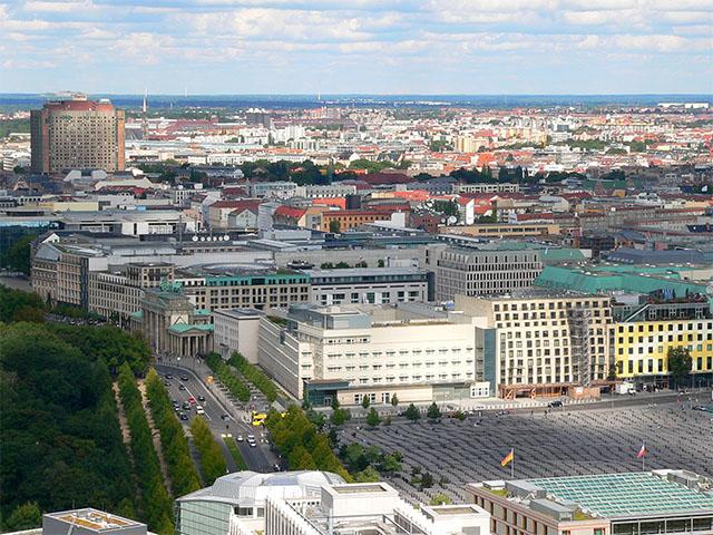 Holocaust Mahnmal - Blick vom Panoramapunkt
