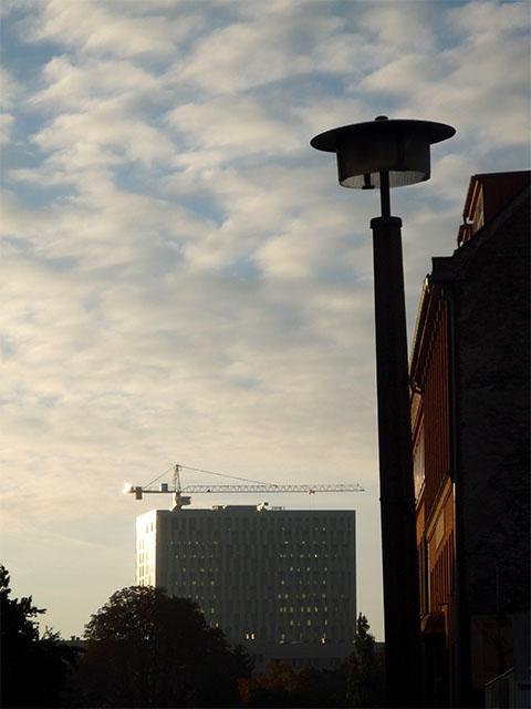 Königstadt-Carree bei Sonnenaufgang