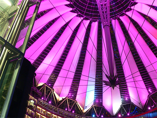 Sony-Center zum Festival of Lights 2010