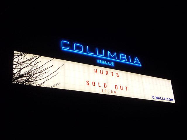 Columbiahalle - HURTS-Konzert