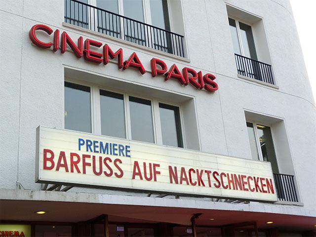 """""""Barfuss auf Nacktschnecken""""-Filmpremiere im Cinema Paris"""