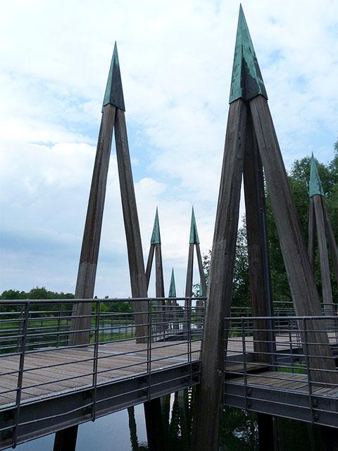 Hauptbrücke des Britzer Garten