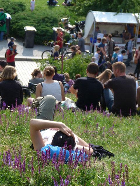 Auf dem Hang im Mauerpark zur Fête de la Musique 2011