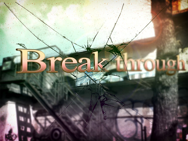 """Break through"" - Photoshop Bildbearbeitung"