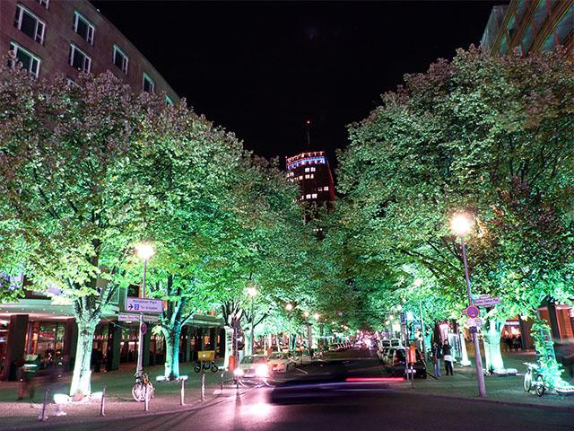 Beleuchtete Bäume zum Festival of Lights Berlin 2011