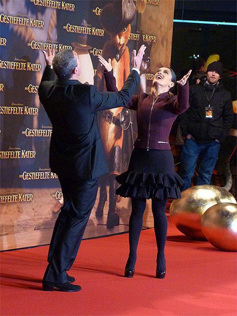 "Antonio Banderas & Salma Hayek - ""Der Gestiefelte Kater""-Premiere"