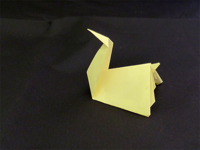 Origami Schwan - Post-it
