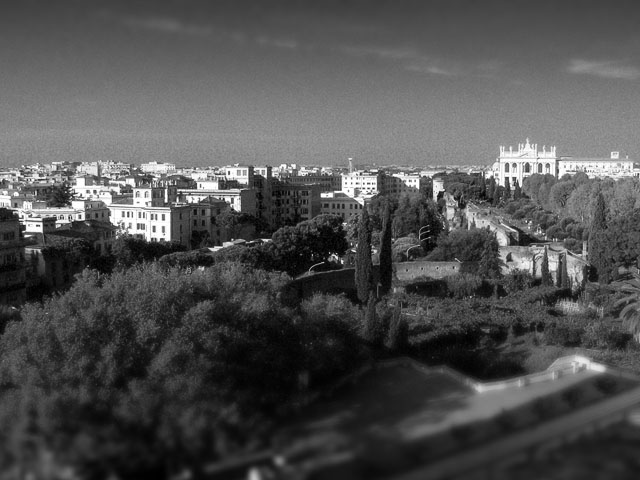 Rom - Ausblick vom Domus Sessoriana