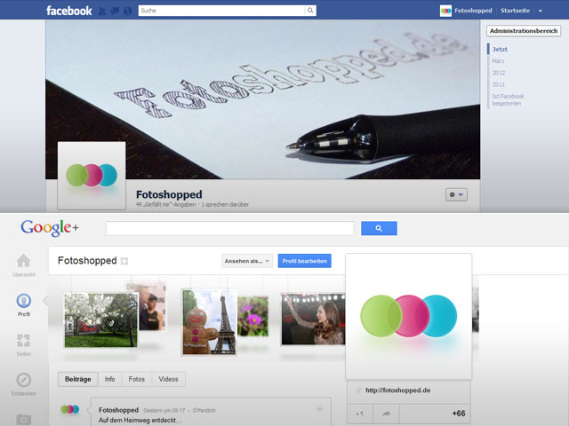 Facebook vs. Google Plus - Der Kampf der Titelbilder