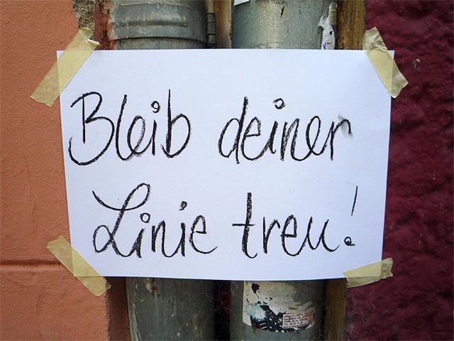 """""""Bleib deiner Linie treu!"""" - Aktion in der Hufelandstrasse"""
