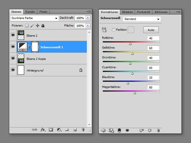 Colorkey in Photoshop ohne Freistellen