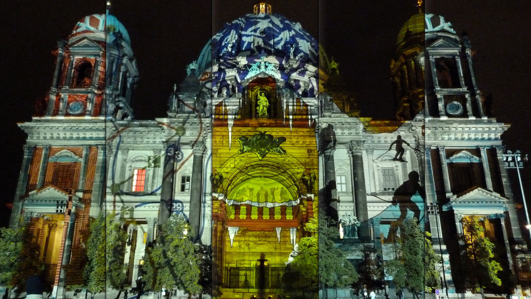 Berliner Dom Collage - Festival of Lights 2012