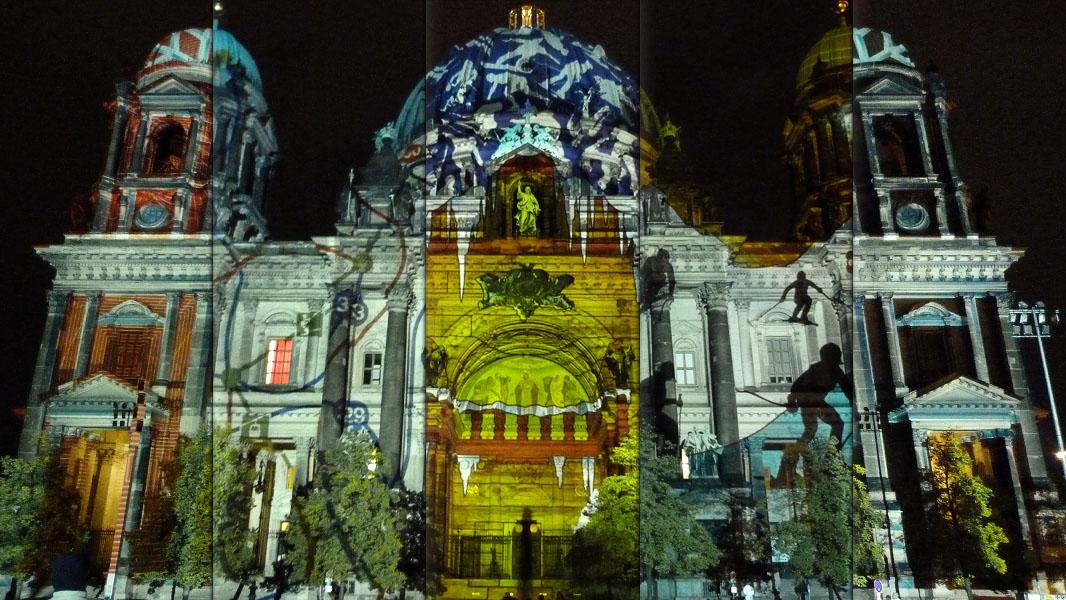Berliner Dom Collage - Festival of Lights 2012