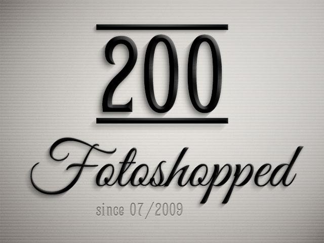 fotoshopped.de - 200. Blogartikel