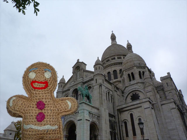 Keksmann vor dem Sacré-Cœur Paris
