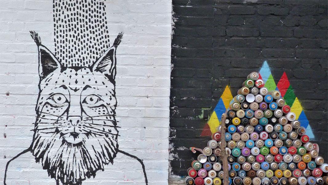 Dosenpyramide - Urban Spree Art Gallery