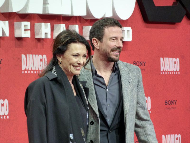 """Iris Berben & Oliver Berben auf der Premiere von """"Django Unchained"""" in Berlin"""