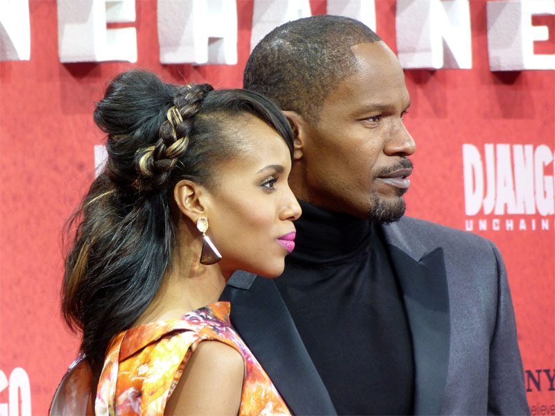"Kerry Washington & Jamie Foxx auf der Premiere von ""Django Unchained"" in Berlin"