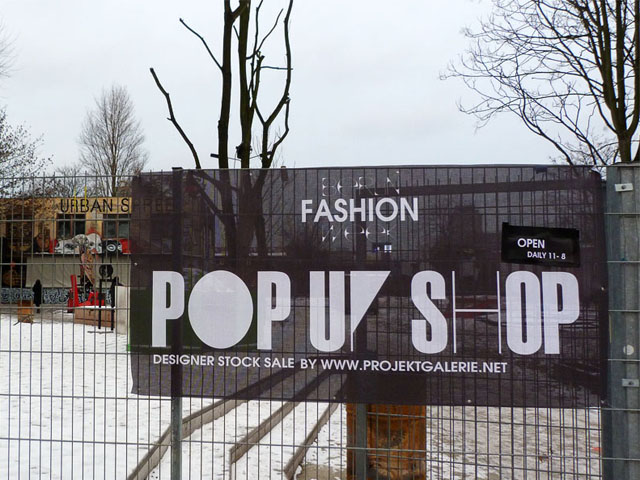 Pop-Up Shop - Berlin Fashion Week Januar 2013