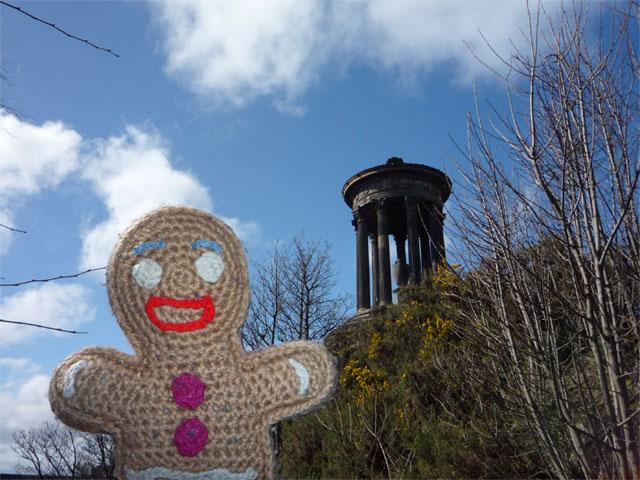 Keksmann auf dem Calton Hill