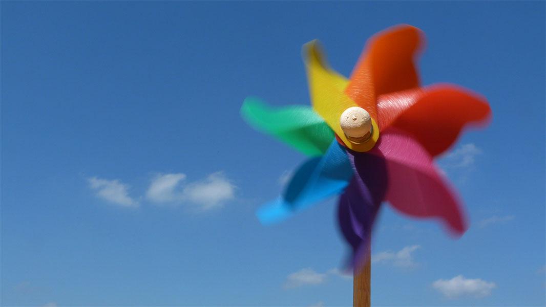 Bunte Windmühle