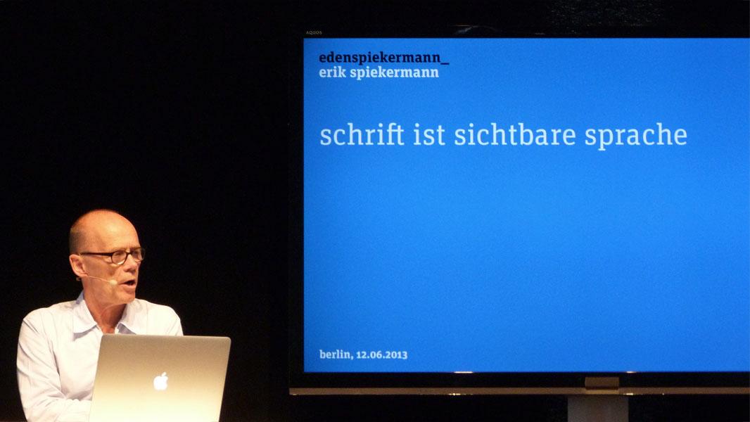Erik Spiekermann - Adobe Creative Days 2013 Berlin