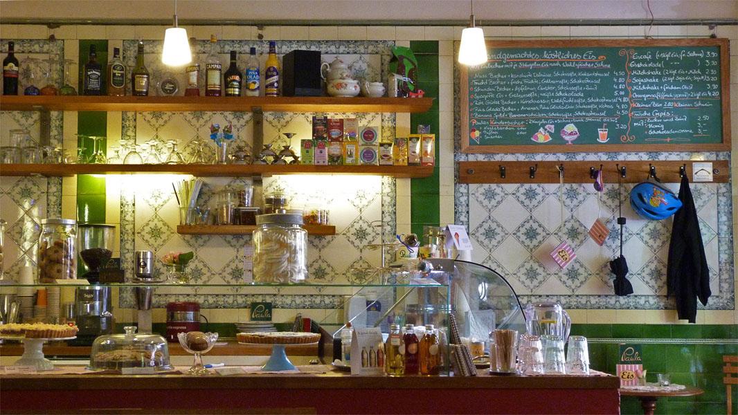 Tresen im Café Paula
