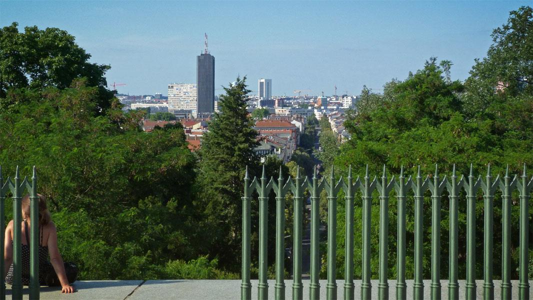 Viktoriapark - Ausblick vom Nationaldenkmal