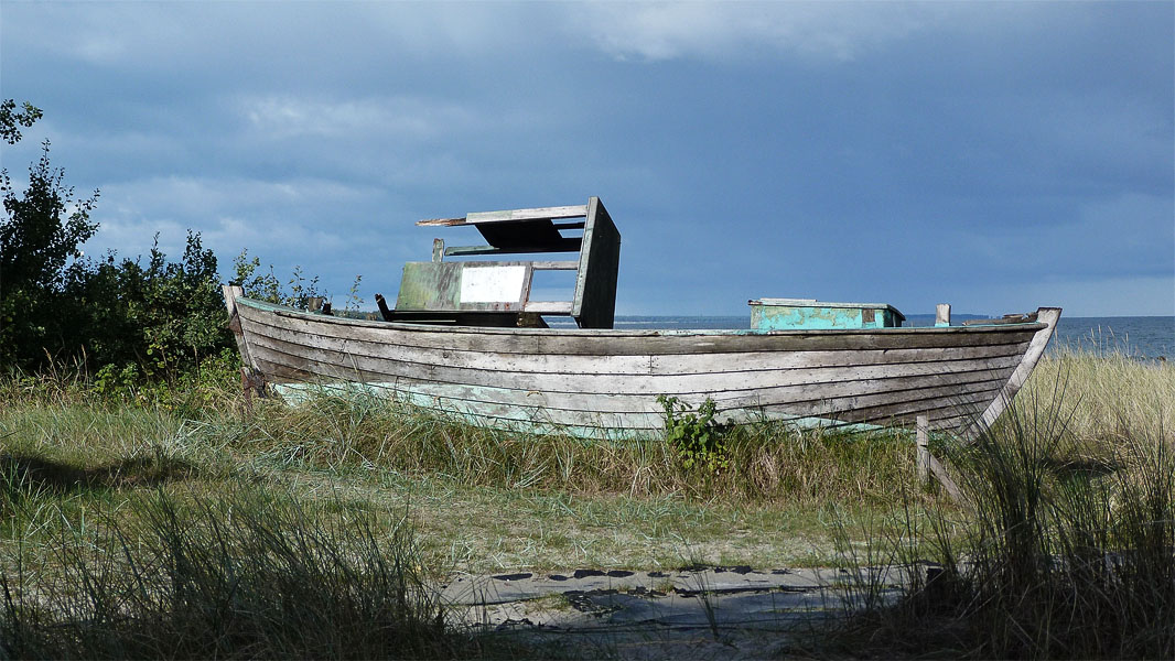 Altes Boot in Zingst an der Ostsee