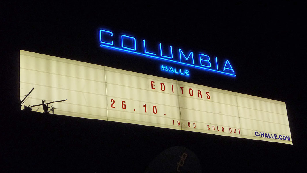Editors in der Columbiahalle Berlin