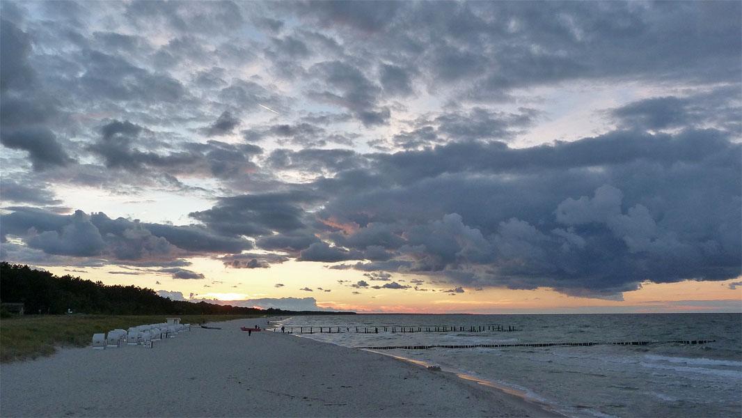 Sonnenuntergang in Zingst an der Ostsee