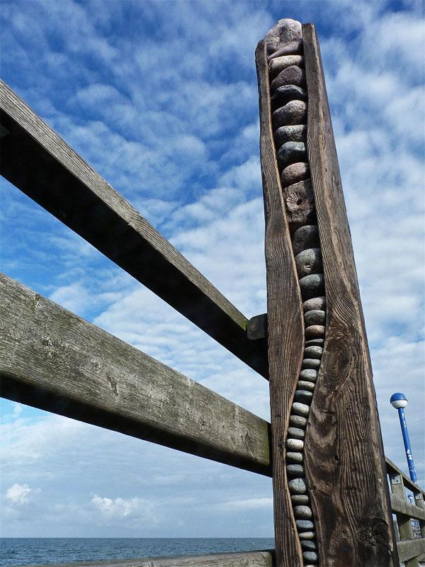 Kunst auf der Seebrücke in Zingst