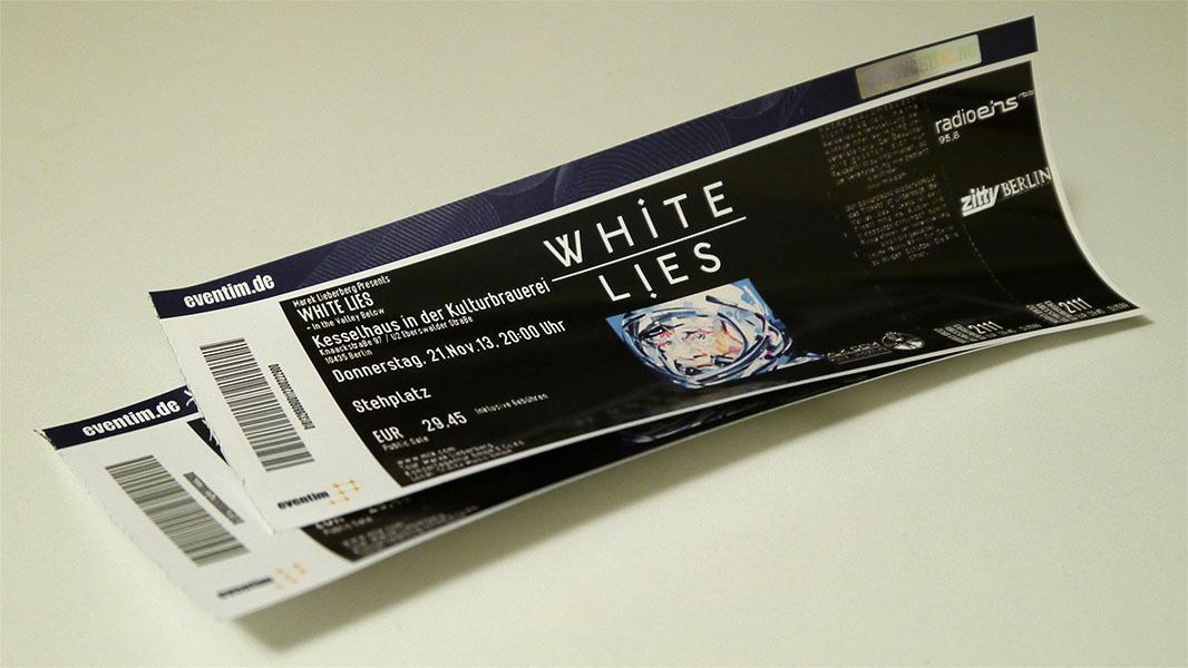 White Lies - Konzertkarten