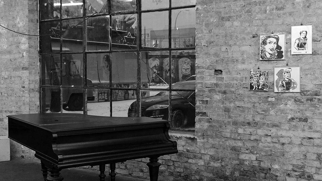 Klavier schwarz/weiß - Berlin Graphic Days 2014