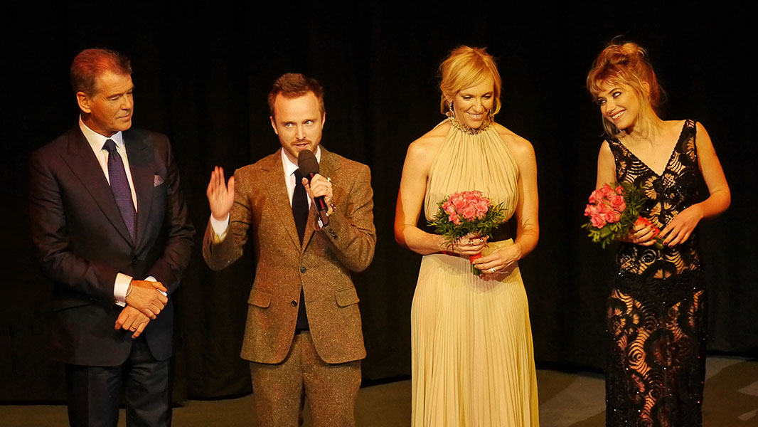"Pierce Brosnan, Aaron Paul, Toni Collette & Imogen Poots - ""A Long Way Down"" Berlinale 2014"