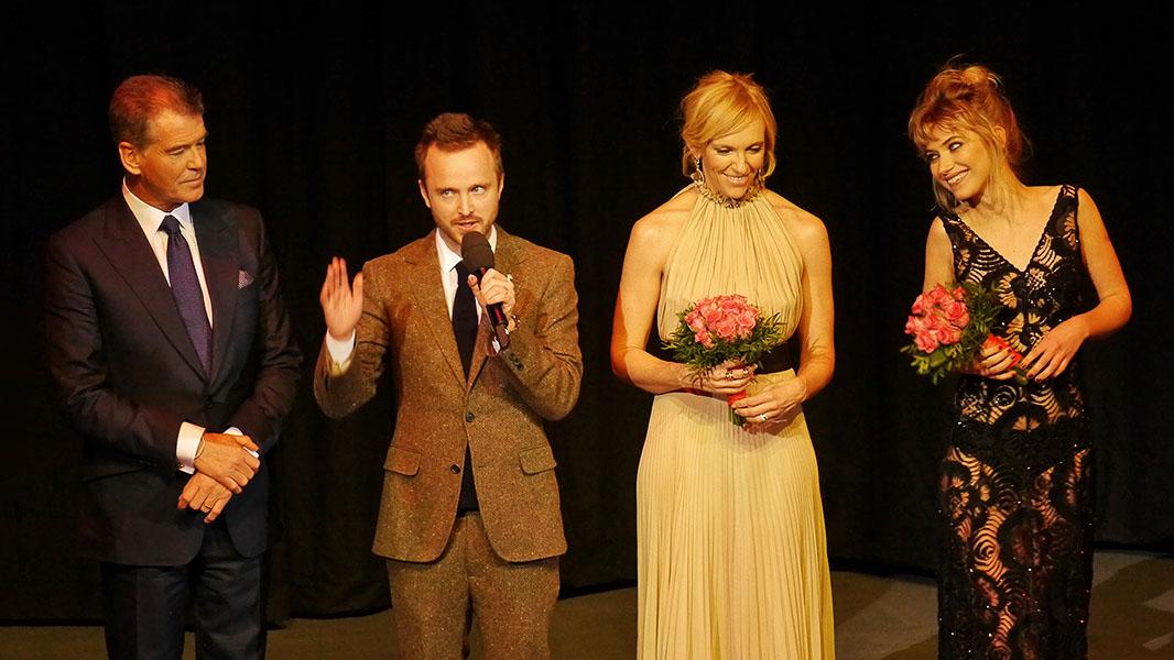 """Pierce Brosnan, Aaron Paul, Toni Collette & Imogen Poots - """"A Long Way Down"""" Berlinale 2014"""