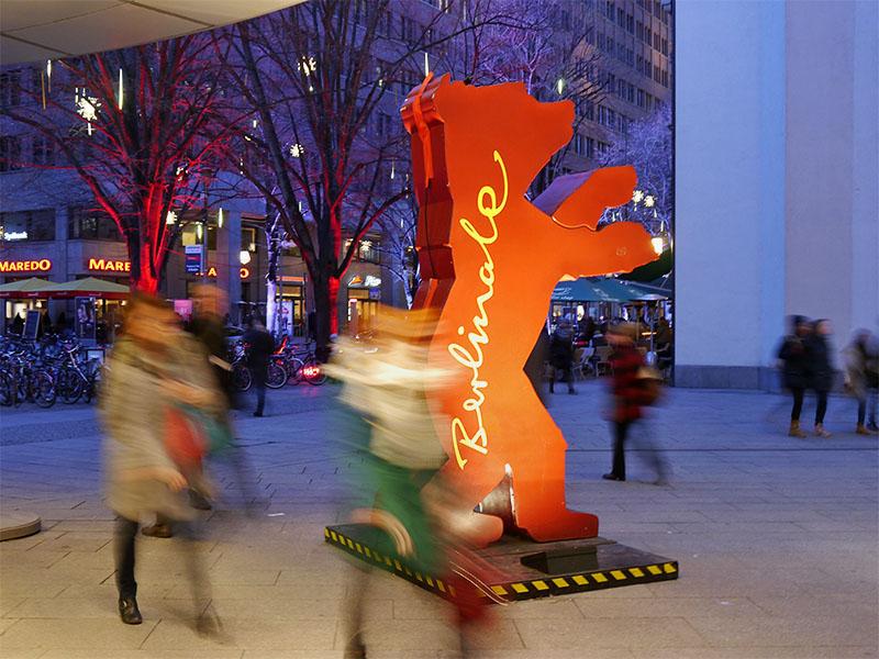 Berlinale Bär vor den Potsdamer Platz Arkaden