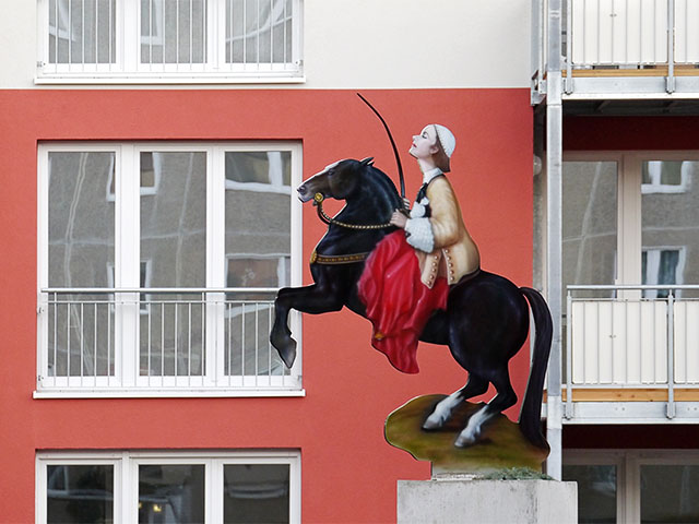 Greta Garbo Skulptur in Pankow