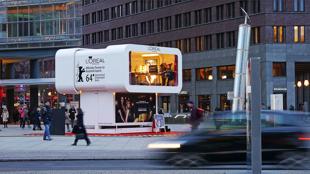 L'oréal-Schminkstudio auf dem Potsdamer Platz - Berlinale 2014
