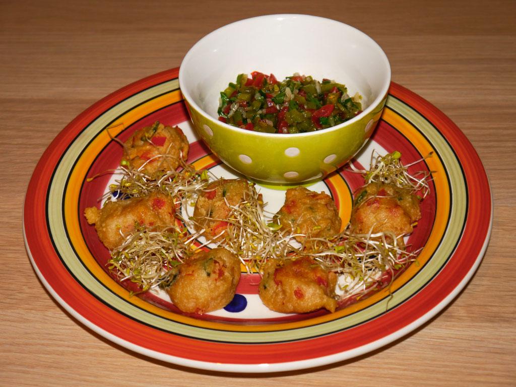 Jalapeño-Nocken mit Salsa - Vegan vom Feinsten