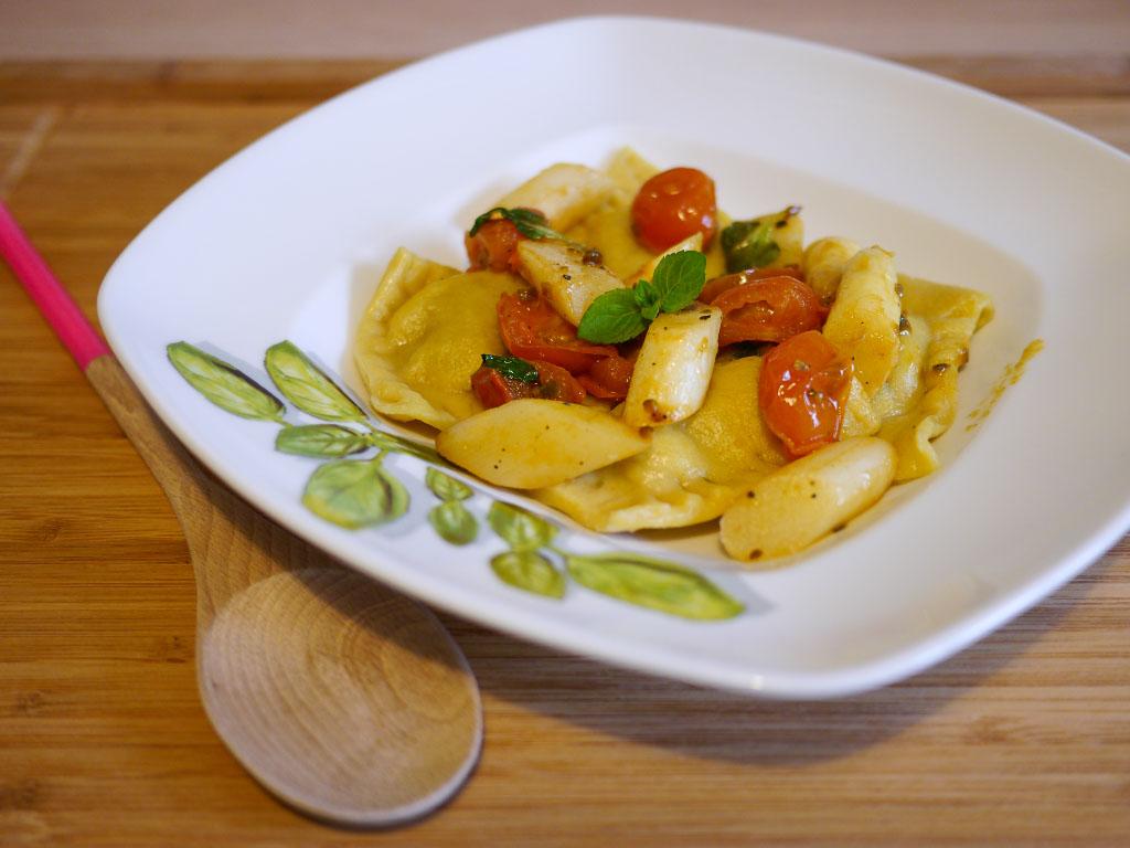 Pistazienravioli mit Spargel - Vegan vom Feinsten