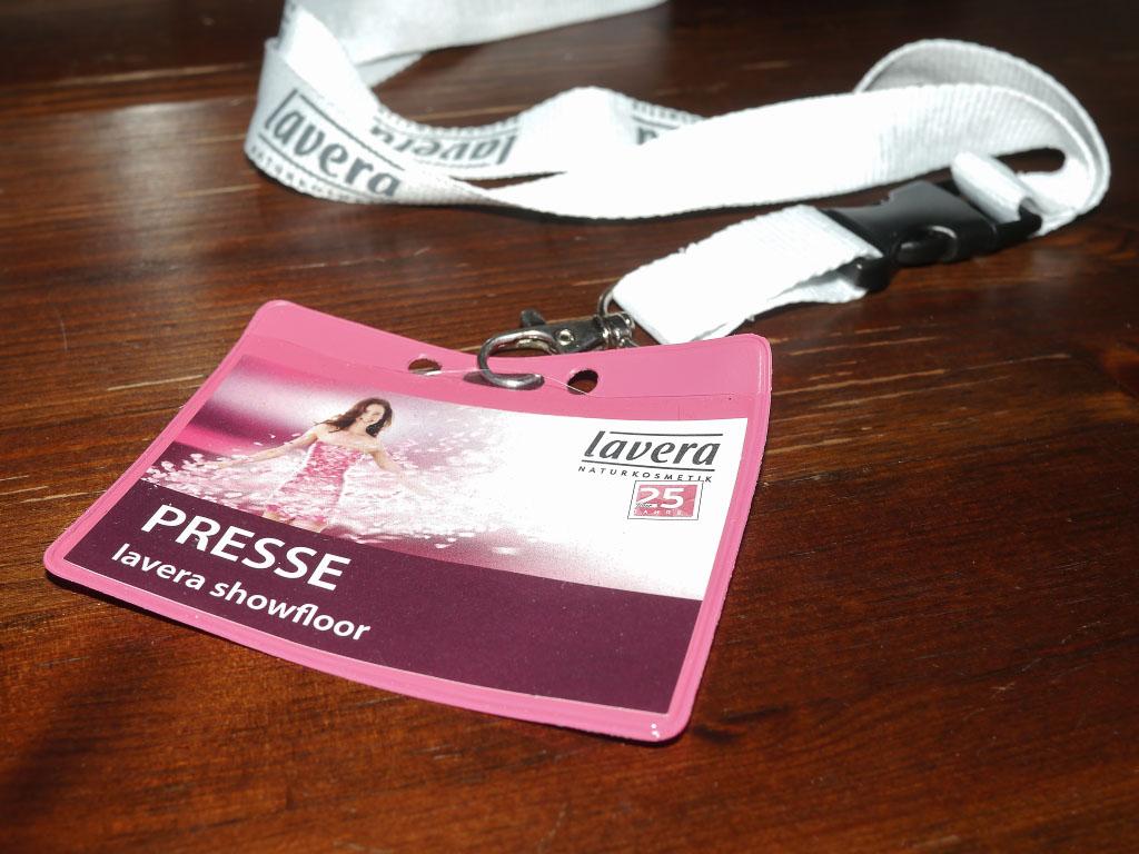 Presseausweis - Lavera Showfloor